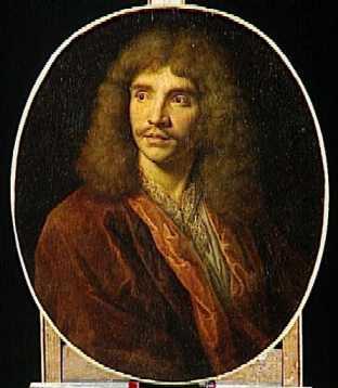 Jean Baptiste Poquelin, dit Molière, peinture anonyme d'après Pierre Mignard, conservée